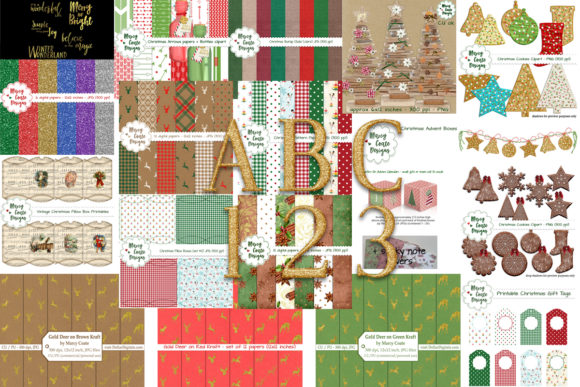 Festive Christmas Bundle  By MarcyCoateDesigns