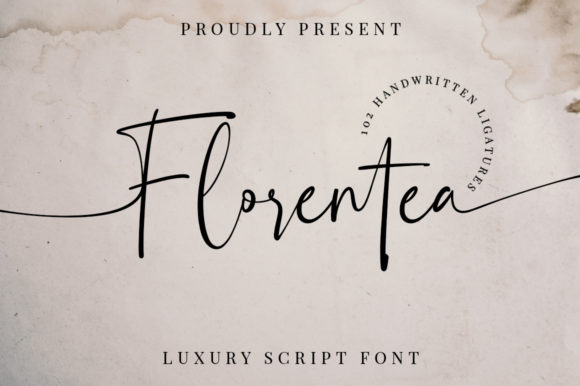 Print on Demand: Florentea Script & Handwritten Font By Typesthetic Studio