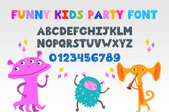 Print on Demand: Funny Kids Party Display Font By OWPictures