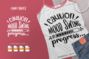 Print on Demand: Funny   Lettering Quotes Graphic Crafts By Vunira