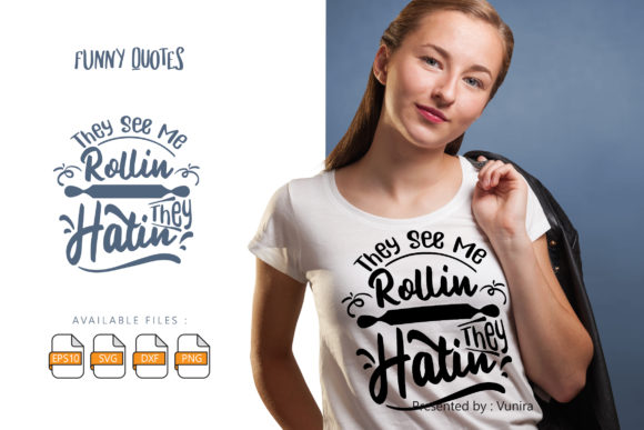 Print on Demand: Funny | Lettering Quotes Graphic Crafts By Vunira