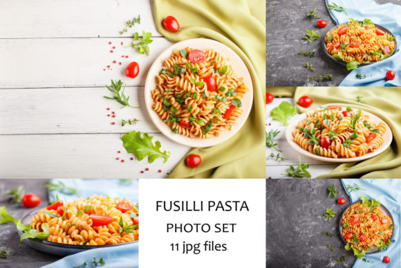 Fusilli Pasta with Tomato Sauce Graphic Food & Drinks By Uladzimir Zgurski Photos