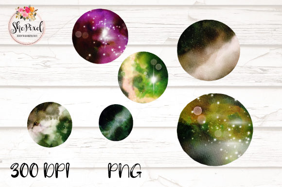 Print on Demand: Galaxy Night Sky Universe Clipart Graphic Illustrations By Sublimation Hut