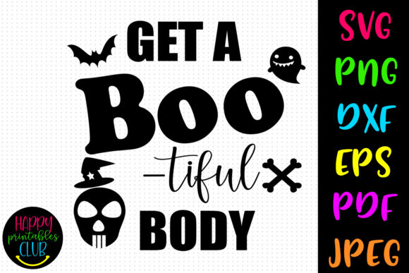 Print on Demand: Get Bootiful Body Halloween Workout Graphic Crafts By Happy Printables Club