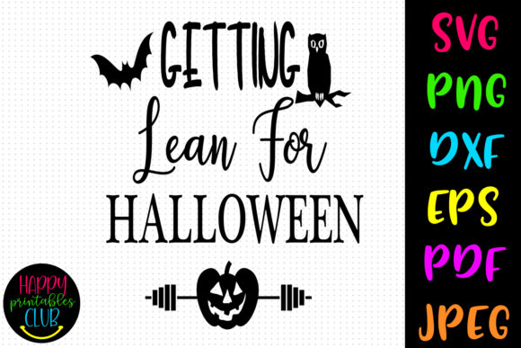 Getting Lean Halloween Workout Graphic Crafts By Happy Printables Club