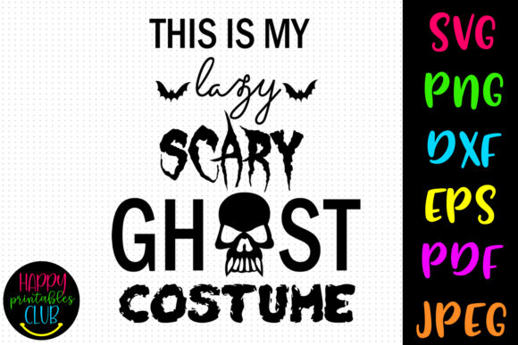 Ghost Costume Halloween Workout Graphic Crafts By Happy Printables Club