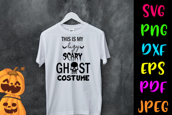 Ghost Costume Halloween Workout Graphic Download