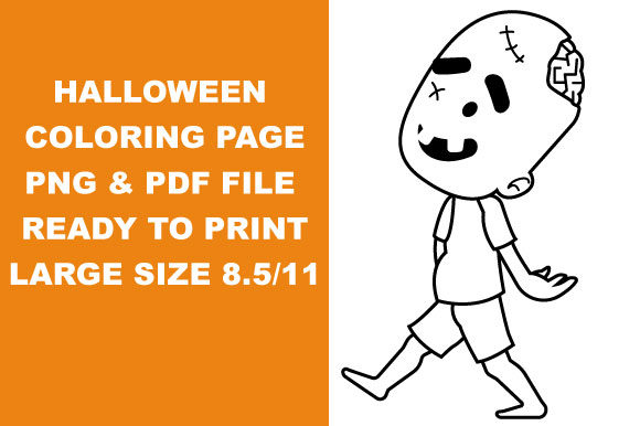 Print on Demand: Halloween Character Coloring Page Graphic Coloring Pages & Books Kids By Mah Moud