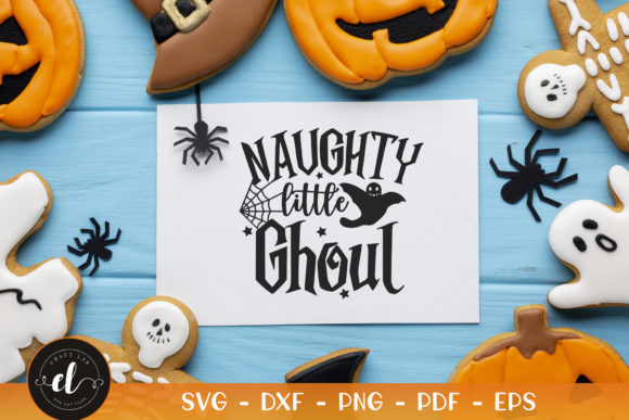 Halloween, Naughty Little  Ghoul Graphic Crafts By CraftlabSVG