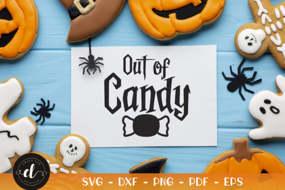 Halloween, out of Candy Graphic Crafts By CraftlabSVG
