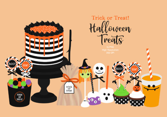 Halloween Treats Clip Art Graphic Illustrations By Sweet Shop Design