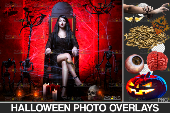 Halloween Clipart & Photoshop Overlay Graphic Actions & Presets By 2SUNS
