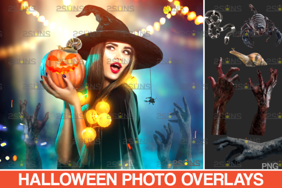 Halloween Clipart Photoshop Overlay V.10 Graphic Actions & Presets By 2SUNS