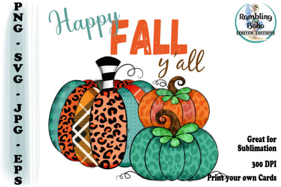 Print on Demand: Happy Fall Y'all Gráfico Ilustraciones Por RamblingBoho