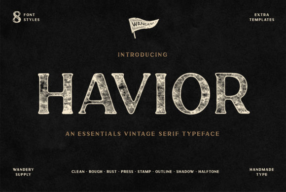 Print on Demand: Havior Display Font By Wandery Supply