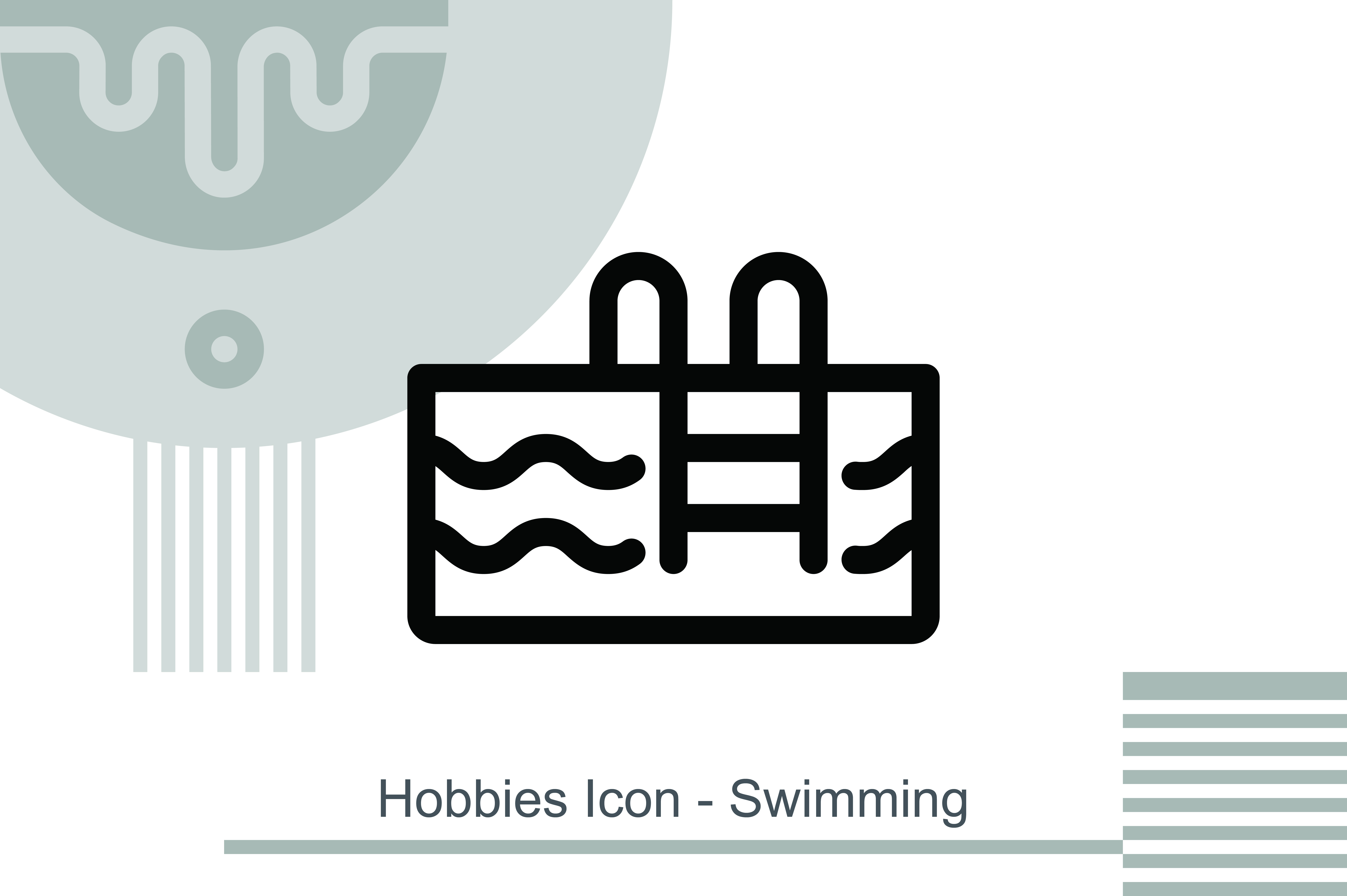 Hobbies Icon Swimming Graphic By Melindagency Creative Fabrica