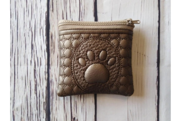 ITH Zippered Bag Dog's Paw Embroidery Download