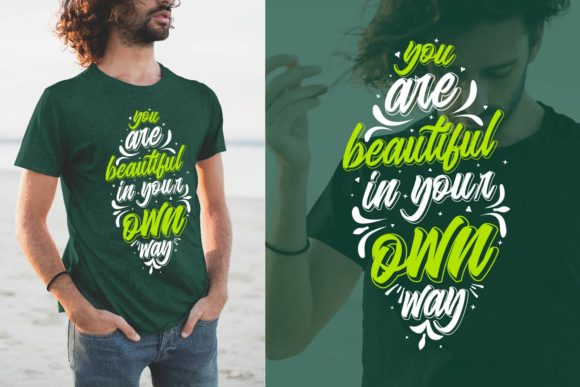 Print on Demand: Inspirational Quotes Lettering T-shirt Graphic Crafts By Universtock
