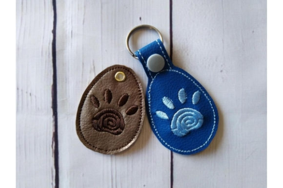 Key Fob Paw Snap Tab Key in the Hoop Sewing & Crafts Embroidery Design By ImilovaCreations - Image 3