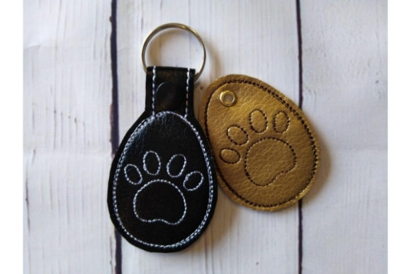 Key Fob Paw Snap Tab Key in the Hoop Sewing & Crafts Embroidery Design By ImilovaCreations - Image 4