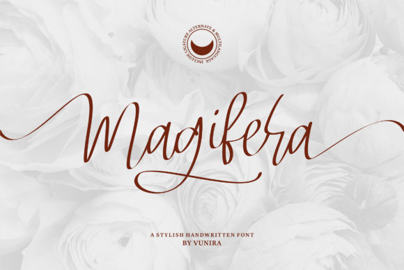 Print on Demand: Magifera Script & Handwritten Font By Vunira