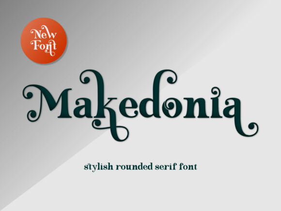 Print on Demand: Makedonia Serif Font By nryntdw