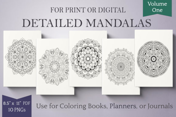 Print on Demand: Mandalas for Coloring Books & More Vol 1 Graphic Illustrations By Digital Town