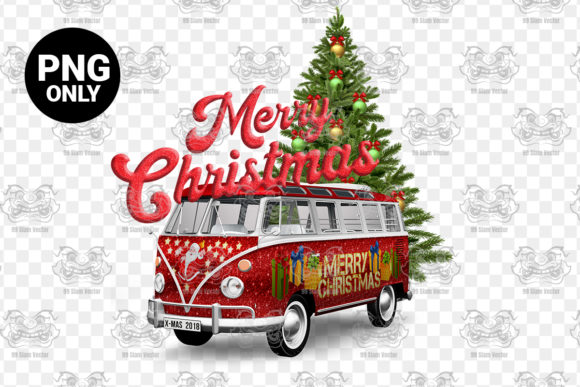 Print on Demand: Merry Christmas Sublimation Graphic Print Templates By 99 Siam Vector