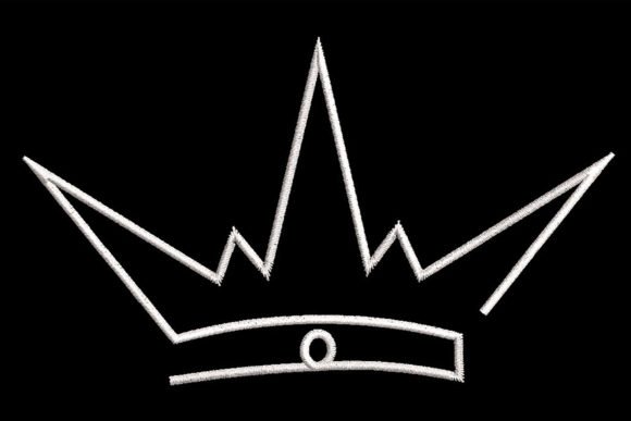 Print on Demand: Minimalistic One Line Crown Quilting Shapes Embroidery Design By Embroidery Shelter