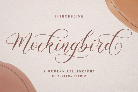 Print on Demand: Mockingbird Script & Handwritten Font By Almeera Studio