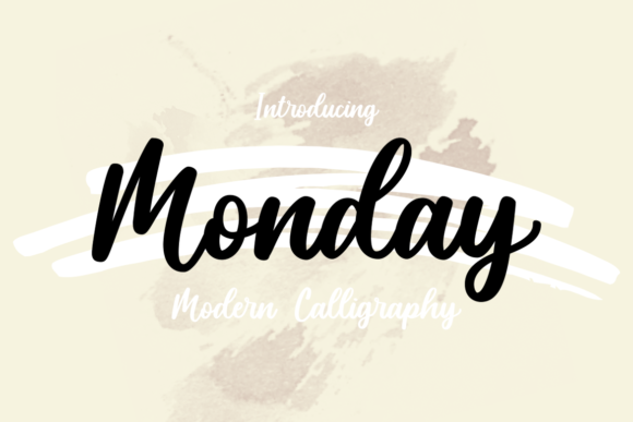 Print on Demand: Monday Script & Handwritten Font By nailetter