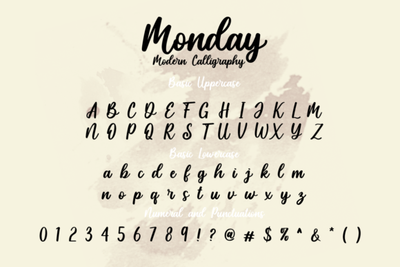 Monday Font Preview