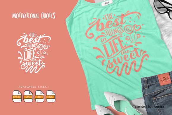 Print on Demand: Motivational | Lettering Quotes Graphic Crafts By Vunira