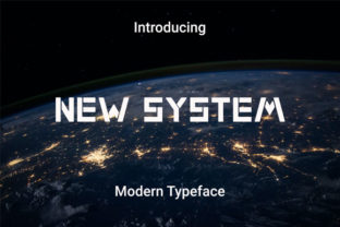 Print on Demand: New System Display Font By RoninDesign