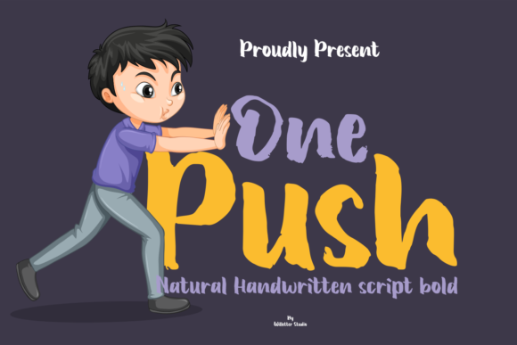 Print on Demand: One Push Script & Handwritten Font By Willetter Studio