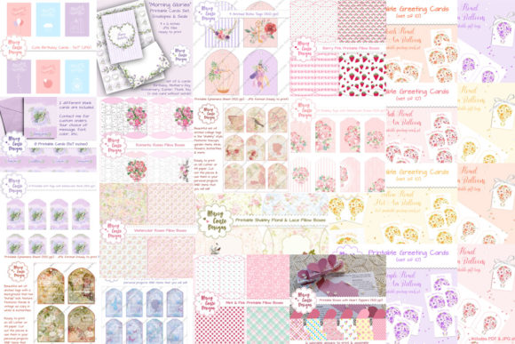 Pretty Cards, Tags & Boxes Bundle  By MarcyCoateDesigns