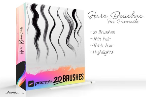 Procreate Hair Brushes Graphic Brushes By Annex