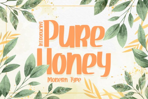 Print on Demand: Pure Honey Display Font By Vunira