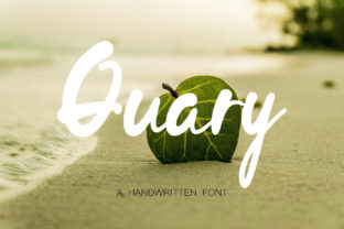 Print on Demand: Quary Script & Handwritten Font By insanurbahagia