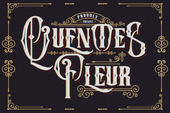 Print on Demand: Quentes Fleur Blackletter Font By Fallengraphic