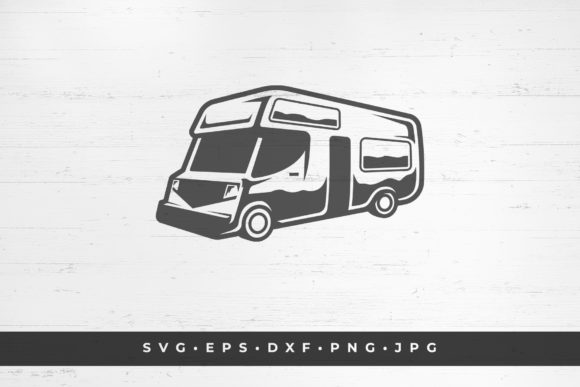 RV Camper Silhouette Illustration Graphic Objects By vasyako1984
