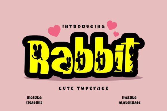 Print on Demand: Rabbit Display Font By Vunira