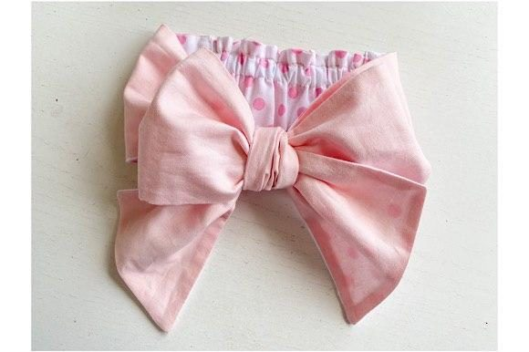 Reversible Bow Baby Headband Graphic Download