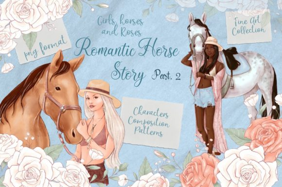 Print on Demand: Romantic Horse Story Part.2 Graphic Illustrations By nicjulia