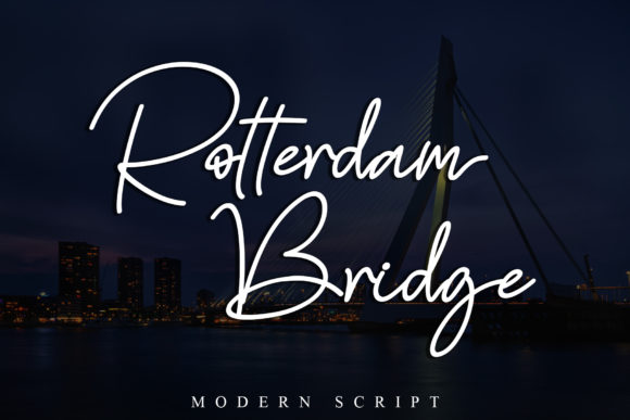Print on Demand: Rotterdam Bridge Script & Handwritten Font By Stefani Letter