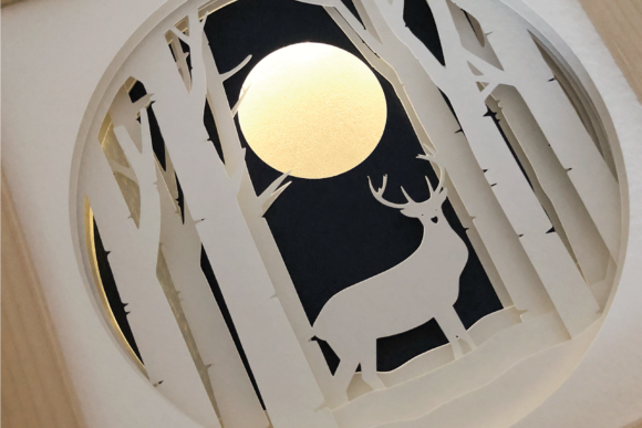 Stag Deer - 3D Shadow Box Template Graphic 3D Shadow Box By Sea Salt and Samphire
