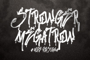 Print on Demand: Stronger Megatron Display Font By aldedesign