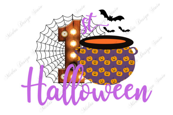 Sublimation - 1st Halloween with Bats Graphic Illustrations By MidasStudio