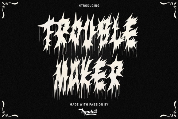 Print on Demand: Trouble Maker Display Font By Tigade std