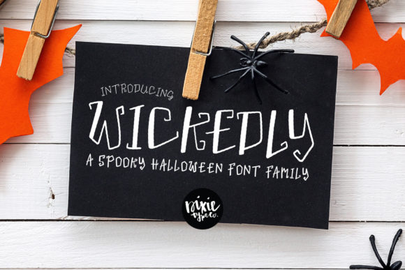 Print on Demand: Wickedly Display Font By dixietypeco